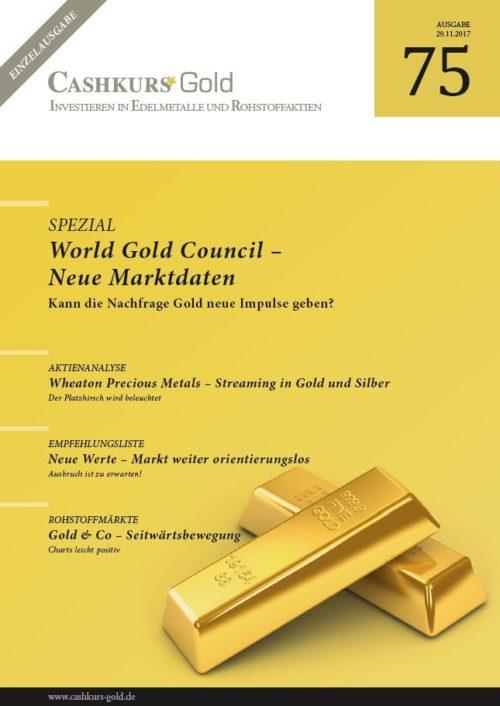Einzelausgabe Cashkurs-Gold 75 - World Gold Council