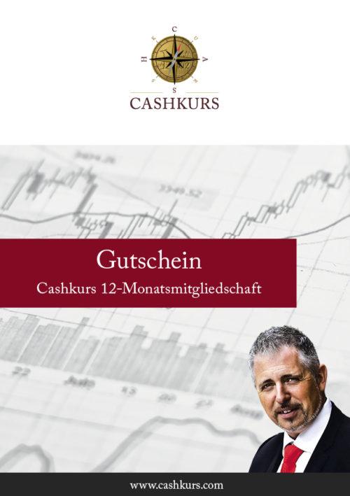 Cashkurs Gutschein 12 Monate