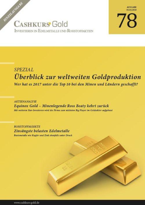CashkursGold 78 Einzelausgabe: Übersicht Glable Goldproduktion